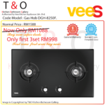 Vees Delicooker DGH-8250F 4.6kW Firepower Double Burner Gas Hob – Brand of Malaysia.
