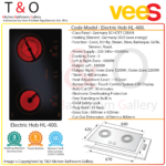 Vees Delicooker HL-400 Ceramic Double Burner Electric Hob 4000W with Germany SCHOTT CERAN (Save Energy) – Brand of Malaysia.