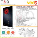 Vees Delicooker HL-400K Induction and Ceramic Double Burner Electric Hob – Brand of Malaysia.