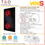 Vees Delicooker HL-460 Ceramic Double Burner Electric Hob 4600W with Germany SCHOTT CERAN (Save Energy) – Brand of Malaysia.