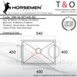 Horsemen Nano Rose Gold SUS304 R10 Single Bowl Handmade Kitchen Sink. Code : HM-SB-NT5445-RG