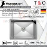 Horsemen SUS304 R10 Single Bowl Handmade Kitchen Sink. Code : HM-SB-6045A-ST