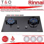 Rinnai Double 3.7kW Burner Gas Hob. Code : RB-712N-G