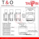 Tagpin Grade 304(18-8) Stainless Steel Pull-Out Bottom Mount Basket