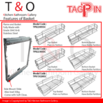 Tagpin Grade 304(18-8) Stainless Steel Pull-Out Side Mount Basket