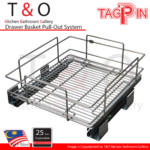 Tagpin Built-In Cabinet Drawer Basket System 400mm to 800mm Carcase with Soft Close and Grade 304(18-8) Stainless Steel