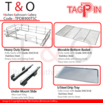 Tagpin Built-In Cabinet Drawer Basket System 900mm Carcase with Soft Close and Grade 304(18-8) Stainless Steel