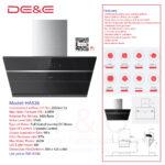 DE&E Cooker Hood: HA926 (Suction:2050m3/hr & 830PA)