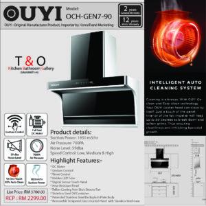 OUYI Cooker suction 1850m3/hr Hood OCH-GEN7-90