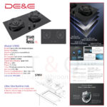 DE&E Ultra Slim 5.2kw with Timer Build-in Hob: S7850