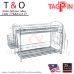 2-Tier Free Standing Dish Rack With Full Accessories