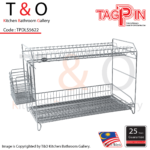 2-Tier Free Standing Dish Rack With Spoon and Fork Holder