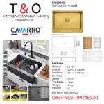 CAVARRO FRAMHOUSE SINK GOLD: F3022S(G)