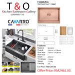 CAVARRO FRAMHOUSE SINK ROSE GOLD: F3022S(RG)